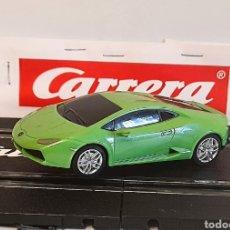 Slot Cars: CARRERA GO !!! - LAMBORGHINI HURACAN LP610-4 - PISTAS 1/43-VERDE. Lote 284285548