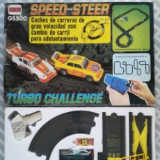 Slot Cars: SPEED STEER GS500 ~TURBO CHALLENGE - COMANSI - COCHES CARRERAS - CAJA ORIGINAL PRECINTADA - PJRB. Lote 284780813