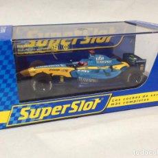 Slot Cars: SCALEXTRIC RENAULT R24 F1 FERNANDO ALONSO DE SUPERSLOT. Lote 287085883
