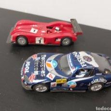 Slot Cars: SCALEXTRIC 2 COCHES CARRERA EVOLUTION ROJO Y FLY VIPER FUNCIONANDO. Lote 287164198