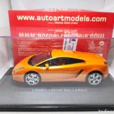 Slot Cars: AUTOART LAMBORGHINI GALLARDO 1/24 METALORANGE SLOT CAR REF. 14032. Lote 289438833