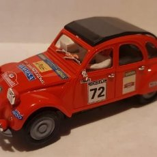 Slot Cars: SCALEXTRIC CITROEN 2CV RALLYE PEP TORRAS PINK KAR REF.-CV035. Lote 289730773