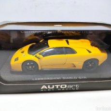 Slot Cars: AUTOART LAMBORGHINI DIABLO GTR YELLOW SLOT CAR REF. 13131. Lote 294949368