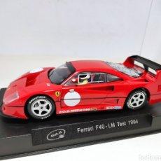 Slot Cars: SLOT.IT FERRARI F40 LE MANS TEST 1994. Lote 294955283