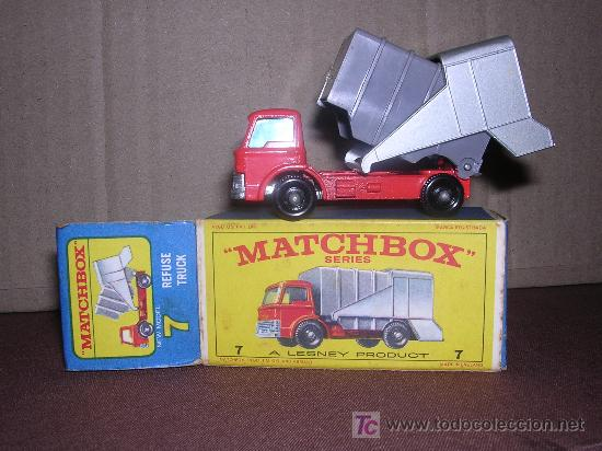MATCHBOX , REFUNE TRUCK 7 (Juguetes - Slot Cars - Matchbox)