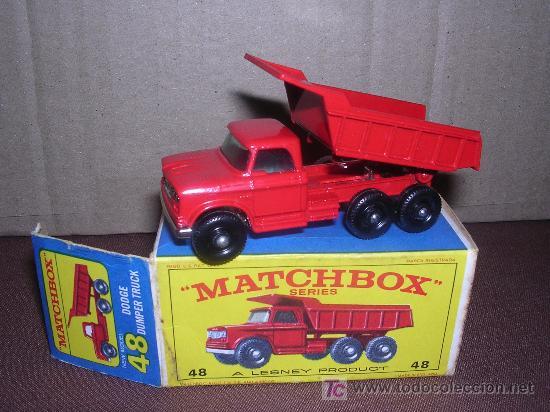 MATCHBOX DODGE DUMPER TRUCK (Juguetes - Slot Cars - Matchbox)