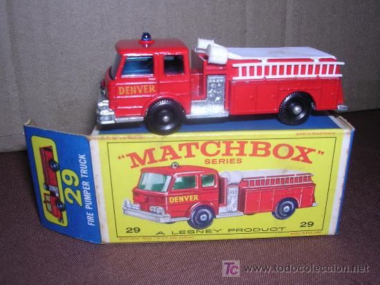 MATCHBOX FIRE PUMPER TRUCK Nº29 (Juguetes - Slot Cars - Matchbox)