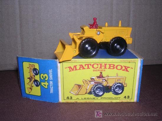 MATCHBOX TRACTOR SHOVEL Nº43 (Juguetes - Slot Cars - Matchbox)