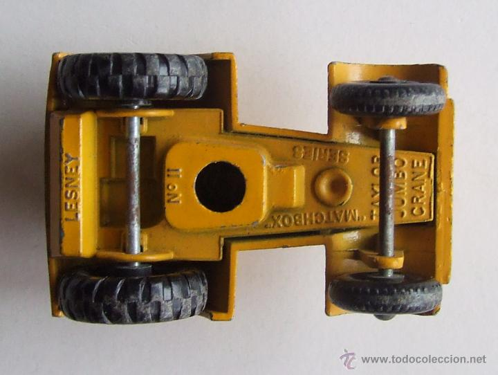 Slot Cars: GRUA DE MATCHBOX SERIES TAYLOR JUMBO CRANE LESNEY Nº 11 INCOMPLETA - Foto 6 - 45640238