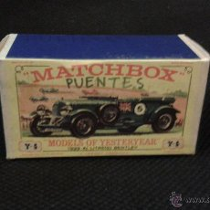 Slot Cars: CAJA VACÍA MATCHBOX Y 5 MODELS OF YESTERDAY. 1929 BLOWER BENTLEY. Lote 47792893