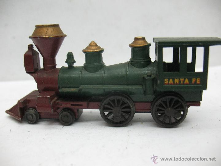 Slot Cars: Matchbox Lesney Ref: 13 - Antigua locomotora de vapor SANTA FE fabricado en England ERF - Foto 2 - 50491439