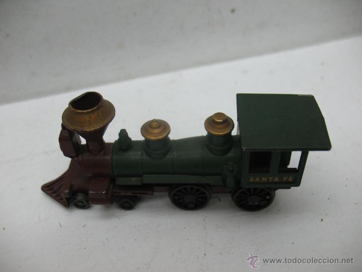 Slot Cars: Matchbox Lesney Ref: 13 - Antigua locomotora de vapor SANTA FE fabricado en England ERF - Foto 4 - 50491439