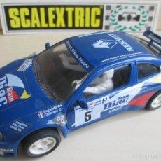 Slot Cars: RENAULT MEGANE DIAC, BUGALSKI 1º TOUR DE CORSE 1996, SCALEXTRIC TYCO AÑO 1997, PERFECTO. Lote 60543351