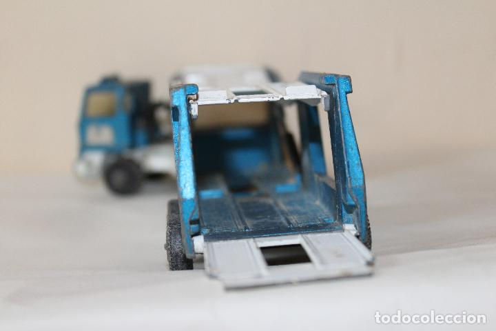Slot Cars: CAMIÓN PORTA COCHES MATCHBOX SUPER KINGS LESNEY K -10 1980 - Foto 3 - 84463548