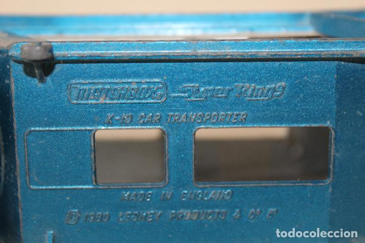 Slot Cars: CAMIÓN PORTA COCHES MATCHBOX SUPER KINGS LESNEY K -10 1980 - Foto 4 - 84463548