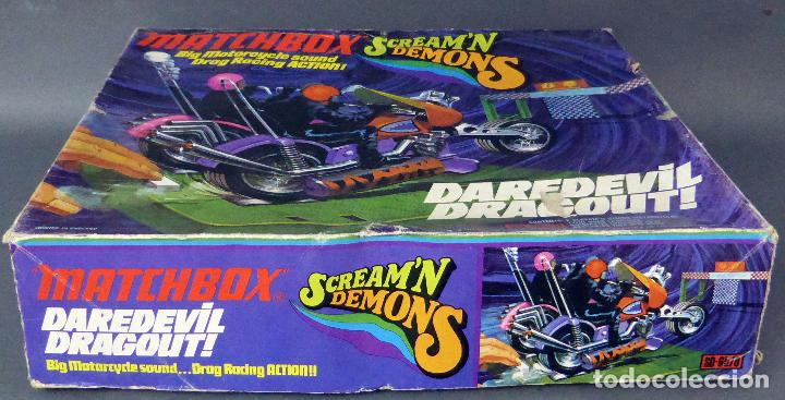 SCREAM DEMONS MATCHBOX LESNEY DAREDEVIL DRAGOUT MADE IN ENGLAND AÑOS 70 JUEGO PISTA (Juguetes - Slot Cars - Matchbox)