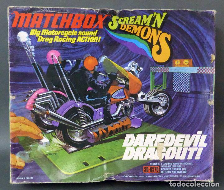 Slot Cars: Scream Demons Matchbox Lesney Daredevil Dragout Made in England años 70 juego pista - Foto 2 - 96235903