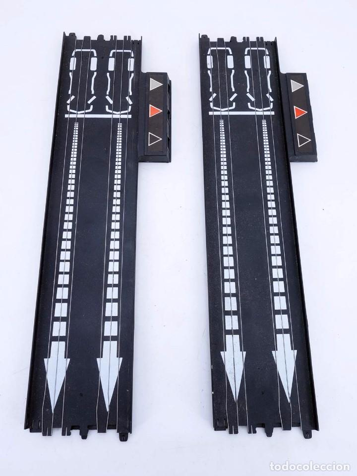 MATCHBOX LANE CHANGER TURBO SR SLOTLESS 2 TRAMOS RECTOS 14-5302 LC TERMINAL TRACK. LC-203. RARO. TCR (Juguetes - Slot Cars - Matchbox)