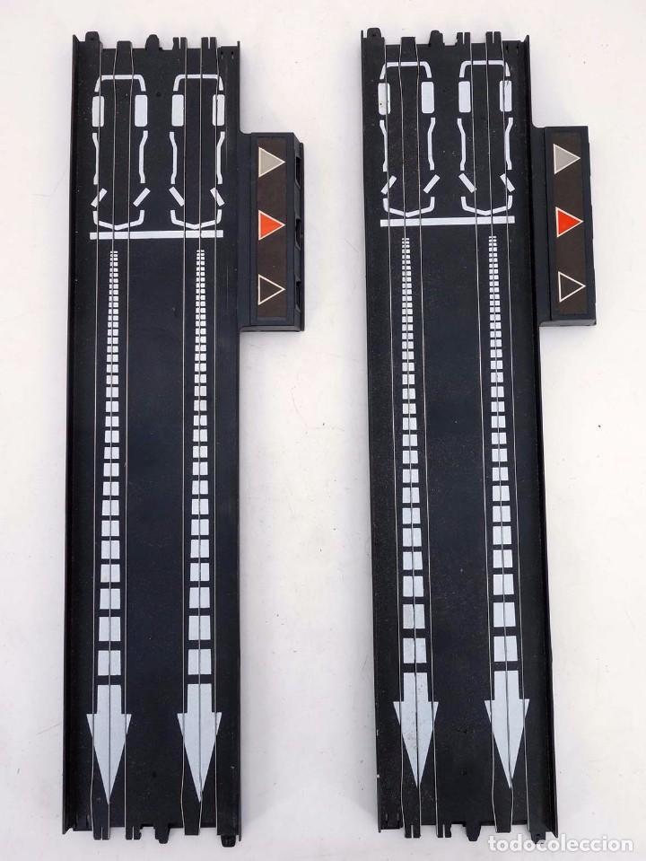 Slot Cars: MATCHBOX LANE CHANGER TURBO SR SLOTLESS 2 TRAMOS RECTOS 14-5302 LC TERMINAL TRACK. LC-203. RARO. TCR - Foto 2 - 105838251
