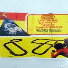 Slot Cars: MATCHBOX LANE CHANGER TURBO SR SLOTLESS MANUAL DE INSTRUCCIONES. 12 PÁGS. RARO. TCR (NO ACREDITADO). Lote 105838659