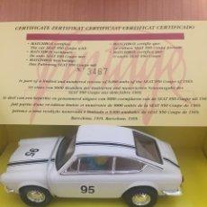 Slot Cars: SEAT 850 VINTAGE BLANCO N.96 MMR. Lote 111115723
