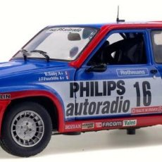 Slot Cars: RENAULT 5 TURBO GRUPO B TOUR DE CORSE 1984 ESCALA 1/18 DE SOLIDO. Lote 117221331