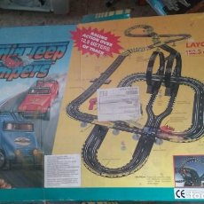 Slot Cars: JUEGO COMPLETO 12,5 M JAMIN JEEP JUMPERS. Lote 139026154