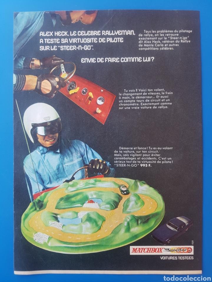 ANTIGUA PUBLICIDAD MATCHBOX SUPERFAST STEER-N-GO / ALEX HECK / RECORTE EN FRANCÉS (Juguetes - Slot Cars - Matchbox)