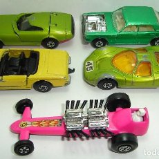 Slot Cars: ANTIGUO LOTE DESGUACE DE COCHES MATCHBOX LESNEY SUPERFAST. Lote 155109906