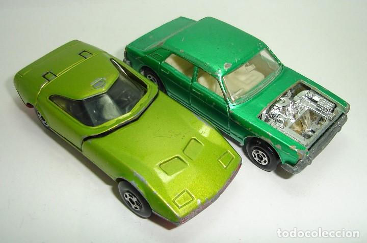 Slot Cars: ANTIGUO LOTE DESGUACE DE COCHES MATCHBOX LESNEY SUPERFAST - Foto 3 - 155109906