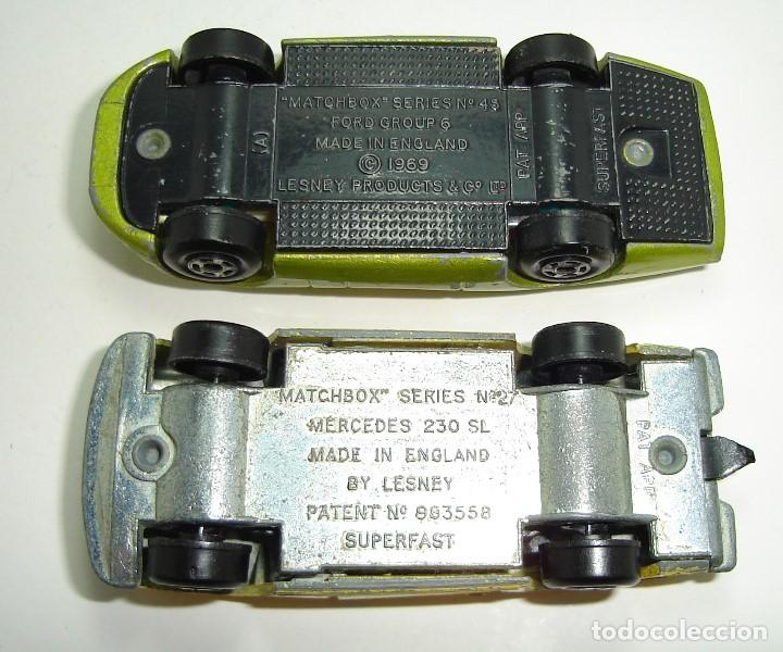 Slot Cars: ANTIGUO LOTE DESGUACE DE COCHES MATCHBOX LESNEY SUPERFAST - Foto 12 - 155109906