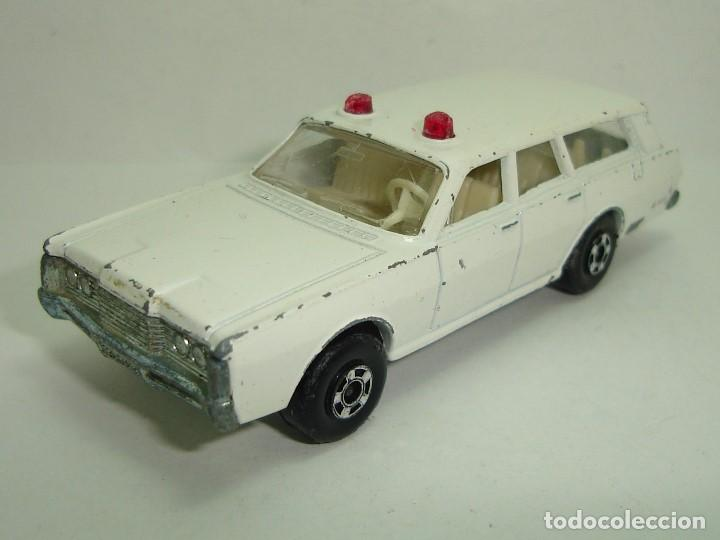 Slot Cars: ANTIGUO MERCURY POLICE CAR MATCHBOX LESNEY SUPERFAST NUMERO 55 - Foto 2 - 155215714