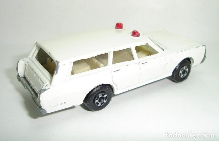 Slot Cars: ANTIGUO MERCURY POLICE CAR MATCHBOX LESNEY SUPERFAST NUMERO 55 - Foto 3 - 155215714