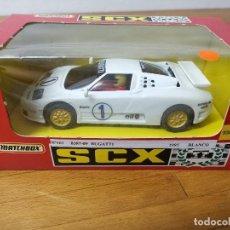Slot Cars: COCHE SCALEXTRIC SCX MATCHBOX BUGATTI REF.83870.20. Lote 166212954