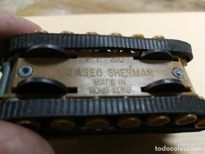 Slot Cars: TANQUE CARRO DE COMBATE W. T. 310 M4A3E8 SHERMAN (TANQUE MILITAR) MADE IN HONG KONG METALICO - Foto 3 - 168077984
