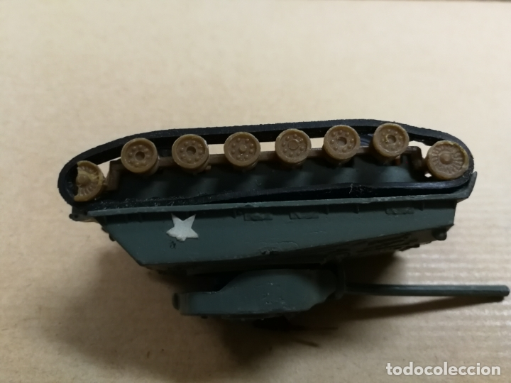 Slot Cars: TANQUE CARRO DE COMBATE W. T. 310 M4A3E8 SHERMAN (TANQUE MILITAR) MADE IN HONG KONG METALICO - Foto 4 - 168077984