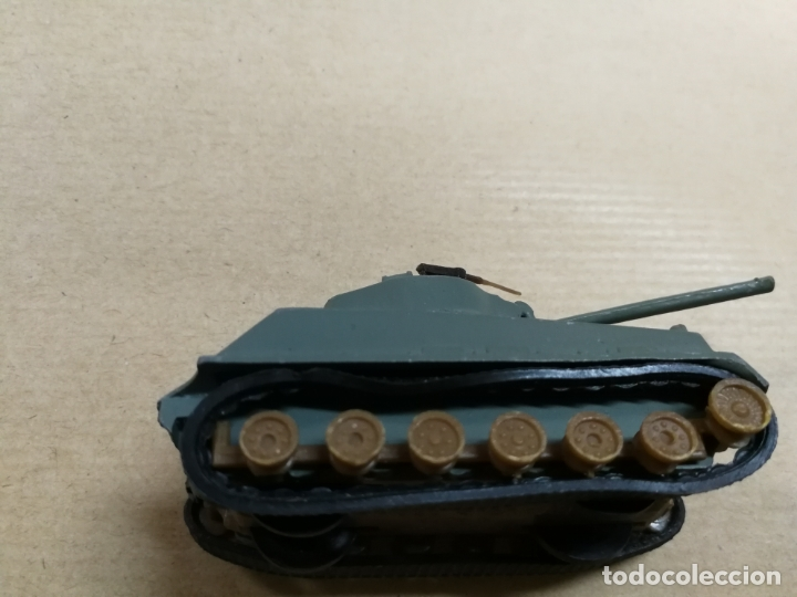 Slot Cars: TANQUE CARRO DE COMBATE W. T. 310 M4A3E8 SHERMAN (TANQUE MILITAR) MADE IN HONG KONG METALICO - Foto 5 - 168077984