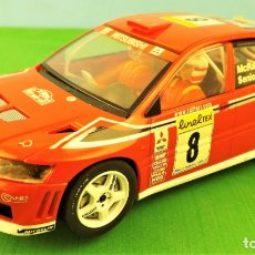 Slot Cars: HORNBY SLOT MITSUBISHI LANCER WRC ALISTER MCRAE. Lote 174148102