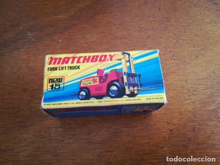Slot Cars: Matchbox superflast fork lift truck new15 1972 made in england - Foto 1 - 182347083