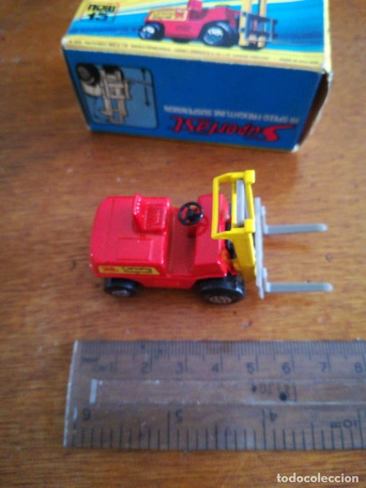 Slot Cars: Matchbox superflast fork lift truck new15 1972 made in england - Foto 4 - 182347083