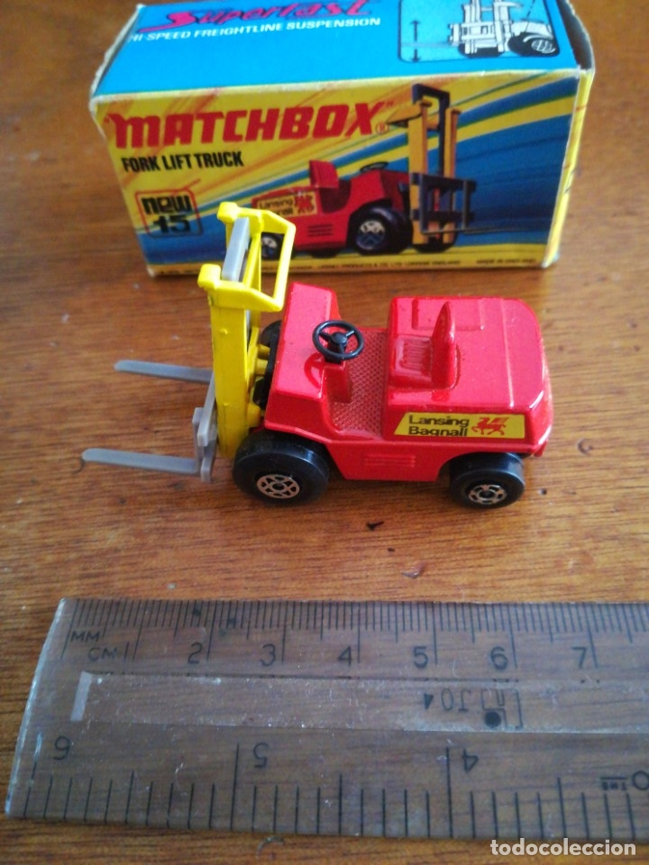 Slot Cars: Matchbox superflast fork lift truck new15 1972 made in england - Foto 6 - 182347083