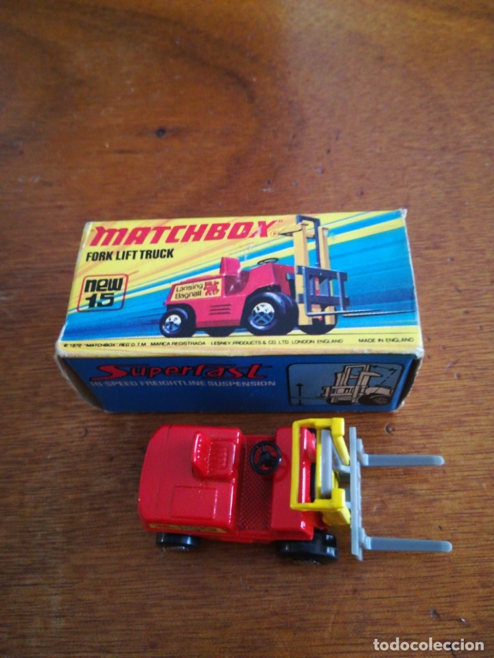 Slot Cars: Matchbox superflast fork lift truck new15 1972 made in england - Foto 9 - 182347083