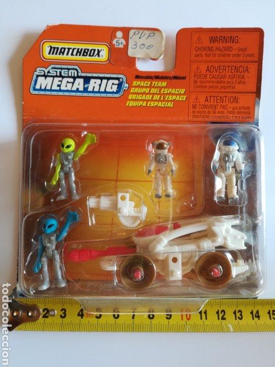Slot Cars: Matchbox System Mega Rig Grupo del Espacio Space Team - Mattel Wheels - año 1999 - Aliens Universo - Foto 12 - 205681753
