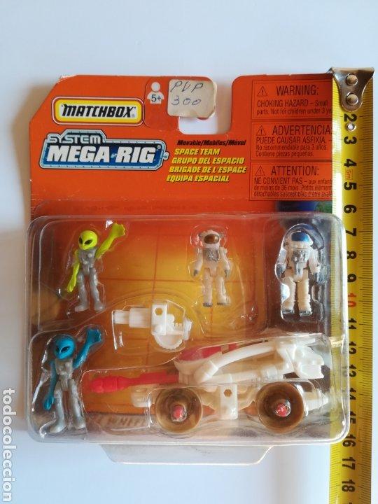Slot Cars: Matchbox System Mega Rig Grupo del Espacio Space Team - Mattel Wheels - año 1999 - Aliens Universo - Foto 14 - 205681753