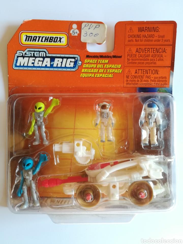 MATCHBOX SYSTEM MEGA RIG GRUPO DEL ESPACIO SPACE TEAM - MATTEL WHEELS - AÑO 1999 - ALIENS UNIVERSO (Juguetes - Slot Cars - Matchbox)
