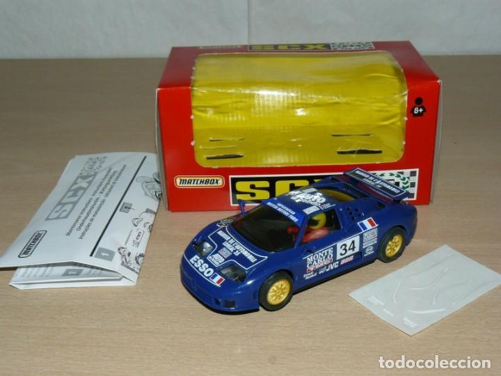 Slot Cars: Scalextric BUGGATTI EB110 Le Mans Ref 83860 Monte Carlo Auto Hebdo Esso slot car coche alfreedom - Foto 2 - 198323953