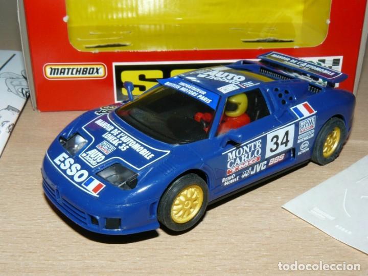 Slot Cars: Scalextric BUGGATTI EB110 Le Mans Ref 83860 Monte Carlo Auto Hebdo Esso slot car coche alfreedom - Foto 3 - 198323953