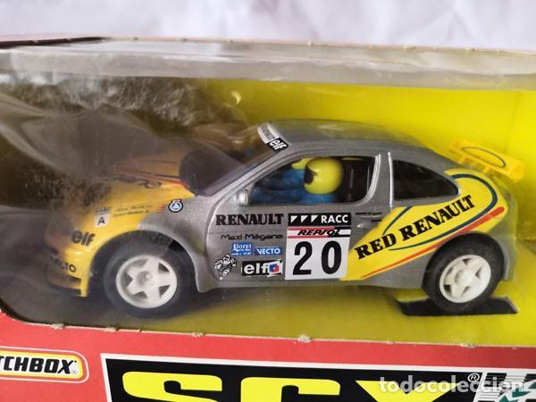 Slot Cars: COCHE SCALEXTRIC, MATCHBOX , RENAULT MEGANE CON SU CAJA ORIGINAL - Foto 6 - 226872820