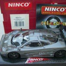 Slot Cars: NINCO 50171 MCLAREN F1 GTR TAG HEUER. Lote 22257684