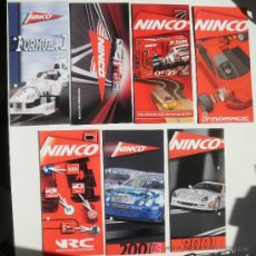 Slot Cars: FOLLETOS NINCO 2001, NRC, FÓRMULA 1, PRORACE, GT TURBO Y PISTAS 2008. Lote 27319427